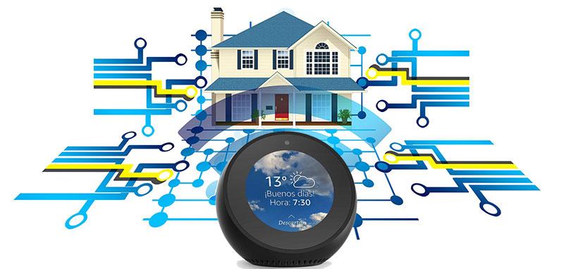Casa conectada altavoz inteligente