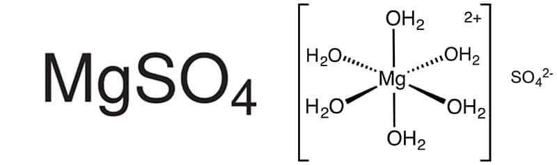 Formula del Sulfato de Magnesio