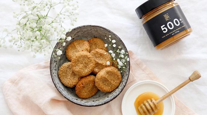 receta de galletas maternas de miel de manuka